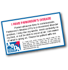 Download a Parkinson's disease I.D. card